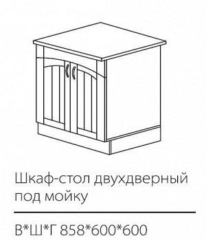 ШСК двухдверный под мойку 858*600*600мм
