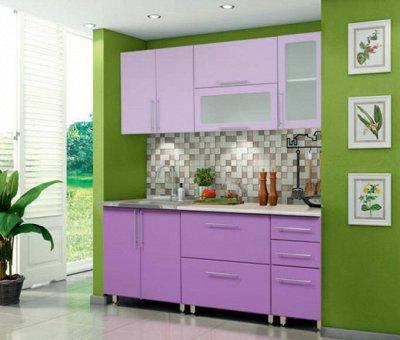 Марибель - 35  Мебель в Рассрочку  — Кухня модульная с фасадами Мыло 224 Глянец! — Гарнитуры