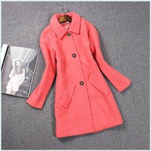 Пальто с отложным воротником Цвет: СВЕТЛО-КРАСНЫЙ