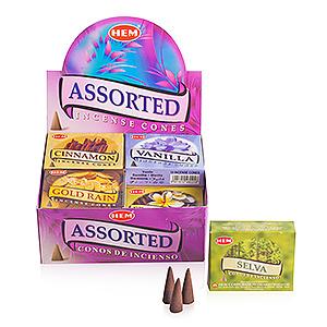 Ассорти из 12 ароматов (Assorted cones), HEM, 10 конусов