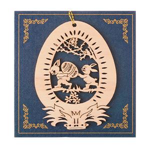 """Декоративное украшение """"Два зайца"""", дерево, 6х8см"""