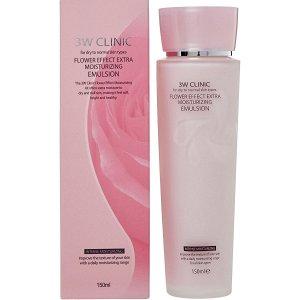 3W CLINIC  Эмульсия для лица Flower Effect Extra Moisture Emulsion, 150 мл