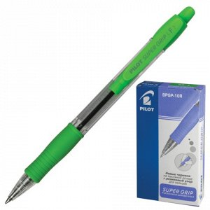 """Ручка шариковая масляная автоматическая с грипом PILOT """"Super Grip"""", СИНЯЯ, узел 0,7 мм, линия письма 0,32 мм, B"""
