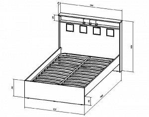Кровать Коста-Рика 1200мм