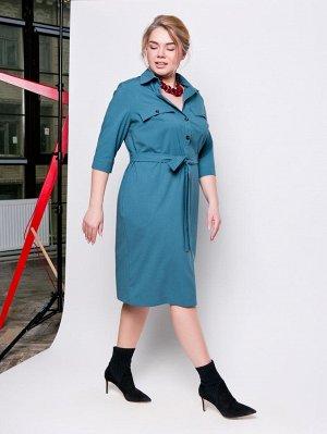 Леонтия платье-рубашка. Размер 56/58. ТМ Grand-мода.