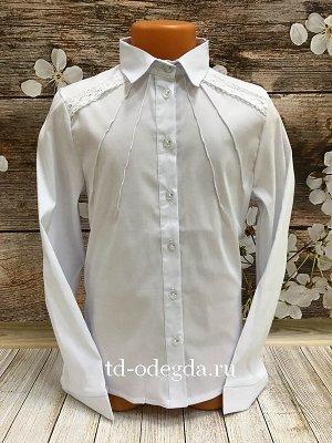 Блузка Школьная блузка для девочек Ткань Бенгалин Состав: хлопок 60%, вискоза 20%, ПЭ 15%, эластан 5% Производство Киргизи