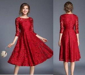 Платье цвет: КРАСНЫЙ