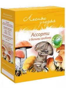 Грибы сушеные ЛЕСНЫЕ УГОДЬЯ Ассорти (с белыми грибами) 45г