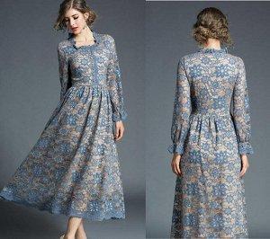 Платье цвет: ГОЛУБОЙ
