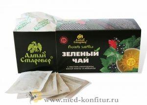 Чай зеленый Русская заварка с листом смородины, хвоей пихты и имбирем