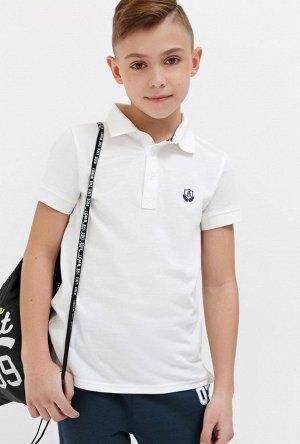 Сорочка-поло верхняя детская для мальчиков Kurokava белый