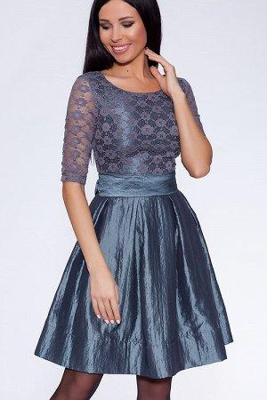 #21341 Платье Серый