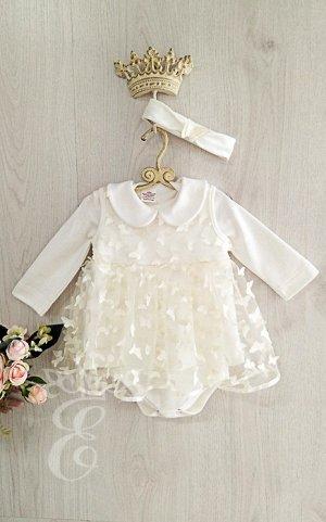 Платье Боди Ободок Мотыльки 891-ПО