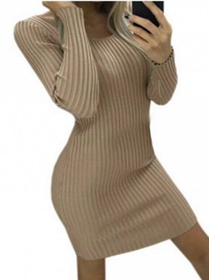 Платье-свитер: ХАКИ