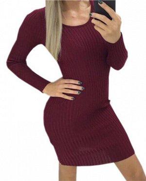 Платье-свитер: КРАСНОЕ ВИНО