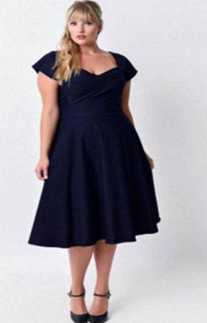 Платье цвет: ТЕМНО-СИНИЙ