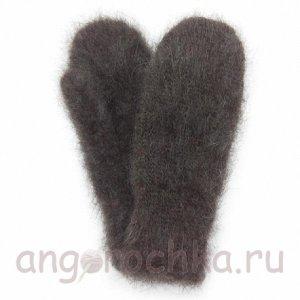 Темно-серые мужские пуховые варежки - 301.34