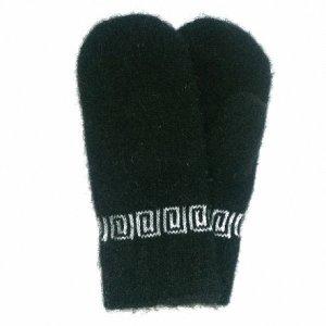 Черные мужские шерстяные варежки - 301.25