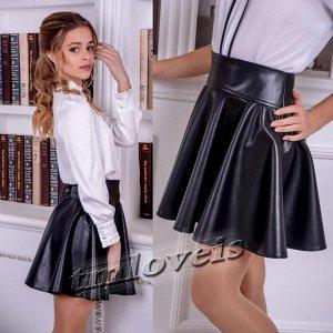Кожаная юбка для девочки Синди