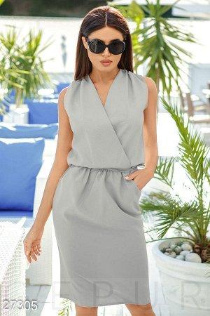 Платье серое костюмка Ультрамодно!!! рост 170