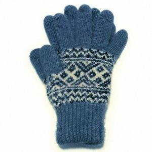 Мужские вязаные шерстяные перчатки - 400.146