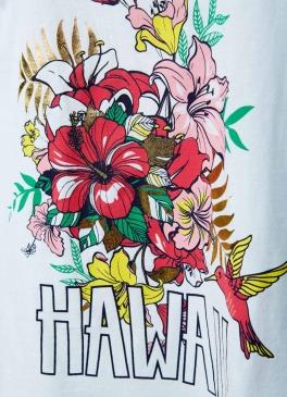 Топ с гавайским принтом