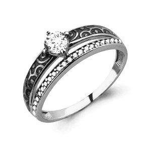 Серебряное кольцо с фианитом 68173А.5