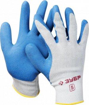 Перчатки ЗУБР рабочие с резиновым рельефным покрытием
