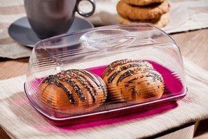 Хлебница Хлебница 24*36,3*17см настольная [ФРЭШ] ГРАНАТ.В небольшой настольной хлебнице Fresh хлебобулочные изделия подолгу остаются свежими и ароматными. Идеальная емкость для небольших кухонь, где в