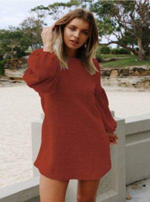 Платье цвет: VD5126 ОРАНЖЕВО-КРАСНЫЙ
