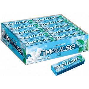 «Impulse», жевательная резинка со вкусом мяты, без сахара, 14 г (упаковка 30 шт)