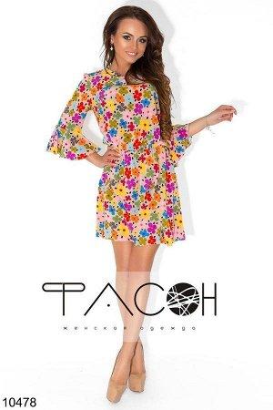 Платье с цветочным принтом цена распродажи!