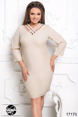 Платье с переплетом на груди