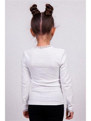 Белая Джемпер 1687, хлопок 95%  лайкра 5%. Очень мягкий приятный к телу трикотаж. Цвет белый.