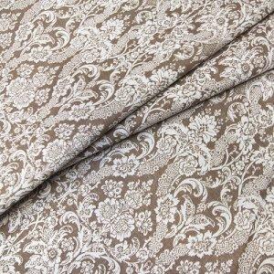 Ткань  бязь плательная 150 см 402/18 Дамаск цвет кофе