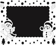 "Песочная рамка ""Снеговик"" арт.661"