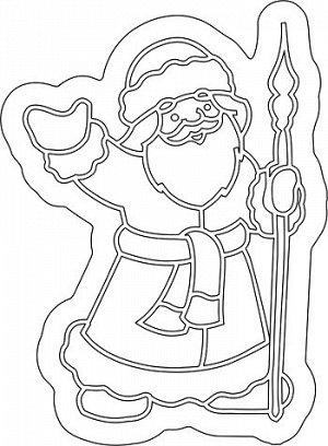 "Трафарет с магнитом ""Дед мороз №2"" арт.MG-005"