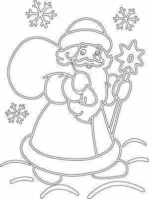 """Трафарет """"Дед мороз №1"""" A4 арт.352"""