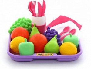 Набор продуктов №2 с посудкой и подносом, 21 эл. , 28*28*8,3см., сетка