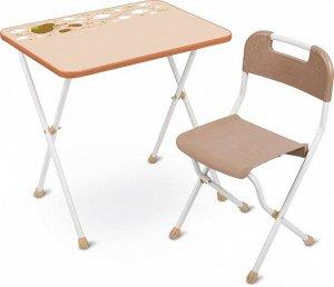 """Набор мебели """"Алина""""  (стол+стул ЛДСП) бежевый тм NIKA"""