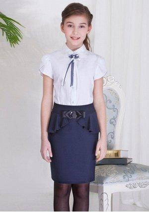 Темно-синяя школьная юбка, на 40-42р. и рост 160 см, в отличном состоянии