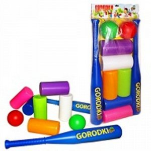 Игра Городки (бита,цилиндры,шарики)58см