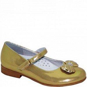G11133B золото Туфли для девочек (27-32)/12