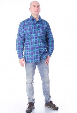 Рубашка мужская 001, фланель.