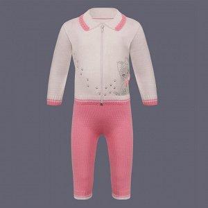 Розовый костюм, р-р 80-86.