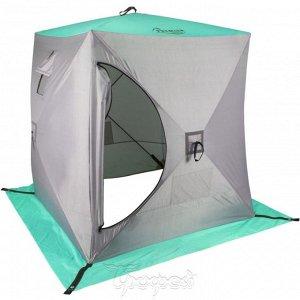 Палатка зимняя Куб 1,5х1,5 biruza/gray (PR-ISC-150BG) PREMIER