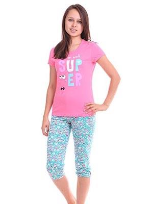 *Пижама для дев.(фуфайка+брюки пиж.укор.) 5С2147-Д42   р.158,164-84 Р207724