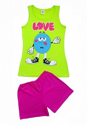 *Пижама для дев.(майка+брюки пиж.укор.) 6С54-Д42   р.158,164-84 Р208525