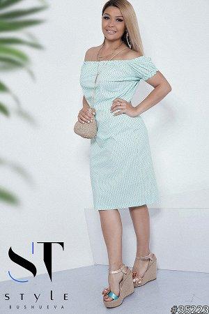 Силуэтное платье 35223
