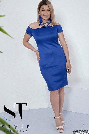 Силуэтное платье 35220